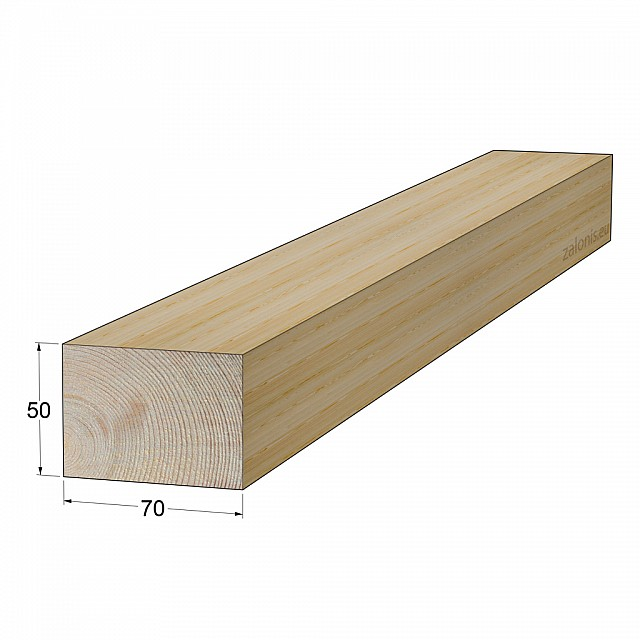 TIMBER SQUARE BEAM 50x70 mm / PINE